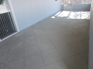 Arizona Room with Decorative Concrete Flooring Overlay